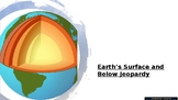 Earth's Surface and Below Jeopardy Game