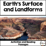 Earth's Surface and Landforms {Reading Passages and Activities}