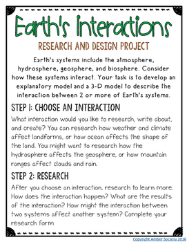 Earth's Systems Culminating Project