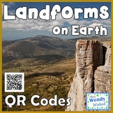 Landforms and Features on the Surface of Earth QR codes for Science