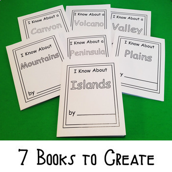Earth's Systems:  Next Generation Science Standard Land Types Mini Books