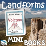 Landforms:  Mini Books of the Shapes and Kinds of Land on Earth