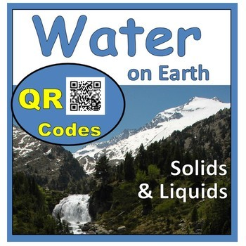 Types and Roles of Water on Earth Science QR Codes