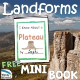 Landforms:  Shapes and Kinds of Land PLATEAU Mini Books for Next Gen Science