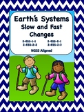 Earth's Systems Slow and Fast Changes NGSS aligned