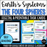 Earth's Systems - The Four Spheres Task Cards Print and Digital (Google Forms)