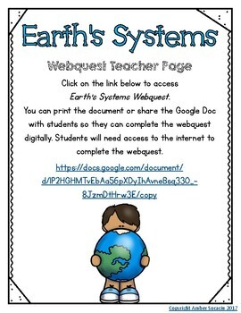 Earth's Systems Webquest