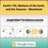 Earth's Tilt, Motions of the Earth, and the Seasons   Google Slides™