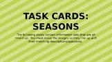 Earth's Tilt: Seasons Task Cards Challenge