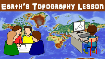 Earth's Topography No Prep Lesson with Power Point, Worksheet and Vocabulary