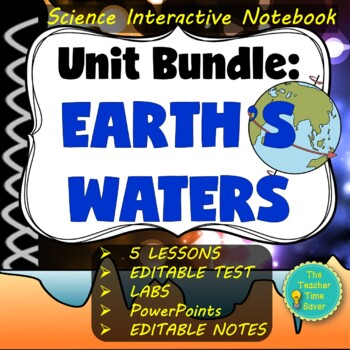 Oceanography Interactive Notebook Bundle- 5E Earth Science Complete Lesson Plans
