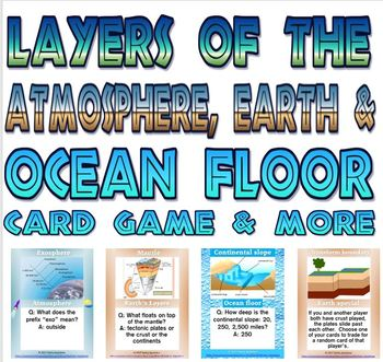 Earth's layers card game and more