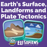 Earth's surface, landforms and plate tectonics unit