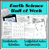 Earth, tectonic plates, evolution, volcanoes - whole unit of work