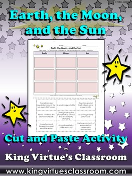 Earth, the Moon, and the Sun Cut and Paste Activity