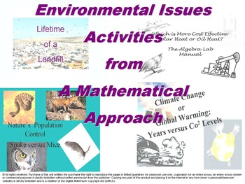 Environmental Issues Activities from a Mathematical Approach