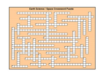 EarthScience:Space Crossword Puzzle