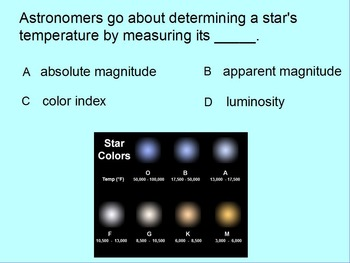 """Earth/Space ActivInspire Review Lesson I """"Stars"""""""