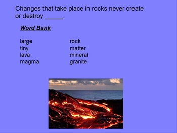 """Earth/Space ActivInspire Review Lesson I """"The Rock Cycle and Igneous Rocks"""""""