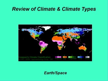 "Earth/Space ActivInspire Review Lesson I and II ""Climate a"
