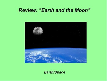 """Earth/Space ActivInspire Review Lesson I and II """"Earth and the Moon"""""""