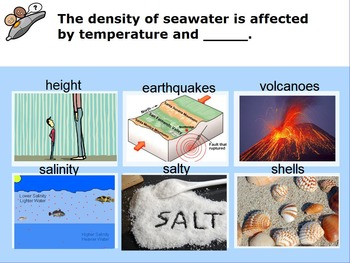 "Earth/Space ActivInspire Review Lesson I and II ""Ocean Water and Currents"""