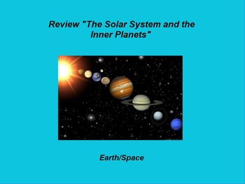 """Earth/Space ActivInspire Review Lesson I and II """"Solar Sys"""