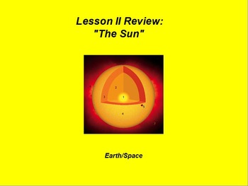 """Earth/Space ActivInspire Review Lesson II """"The Sun"""""""