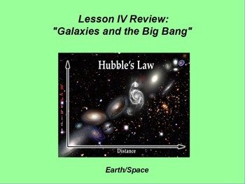 "Earth/Space ActivInspire Review Lesson IV ""Galaxies and th"
