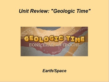 """Earth/Space ActivInspire Unit Assessment Review """"Geologic Time"""""""