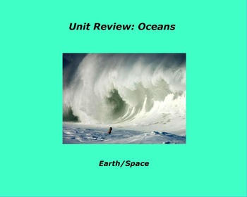 "Earth/Space ActivInspire Unit Assessment Review ""Oceans"""