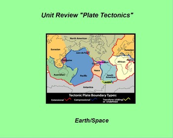 "Earth/Space ActivInspire Unit Assessment Review ""Plate Tectonics"""