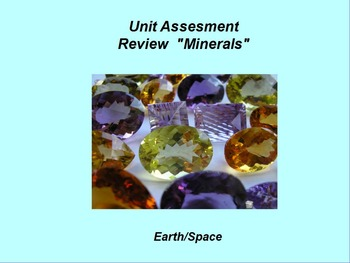 "Earth/Space ActivInspire Unit I Assessment Review ""Minerals"""