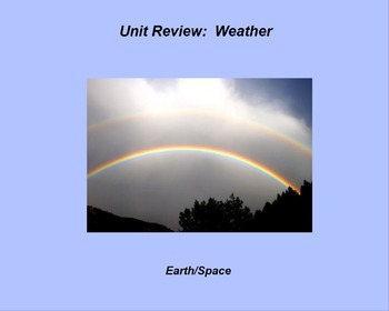 "Earth/Space ActivInspire Unit X Assessment Review ""Weather"""