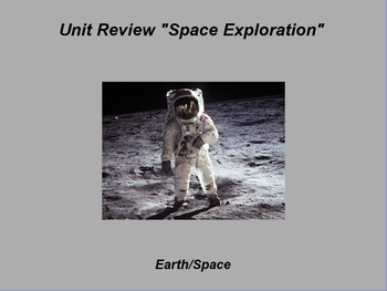 "Earth/Space ActivInspire Unit XI Assessment Review ""Exploring Space"""