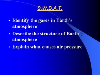 """Earth/Space Lesson I PowerPoint """"Earth's Atmosphere"""""""