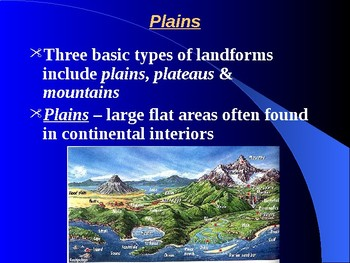 """Earth/Space Lesson I PowerPoint """"Landforms"""""""