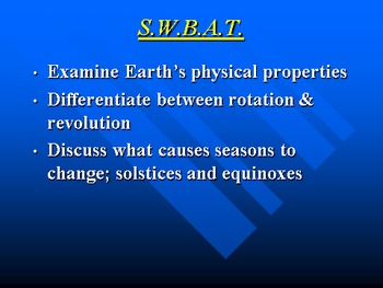 """Earth/Space Lesson I PowerPoint """"Planet Earth"""""""