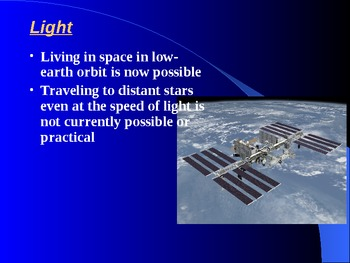 "Earth/Space Lesson I PowerPoint ""Radiation From Space"""