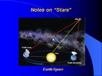"""Earth/Space Lesson I PowerPoint """"Stars"""""""