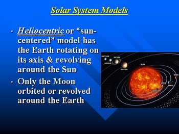 """Earth/Space Lesson I PowerPoint """"The Solar System"""""""
