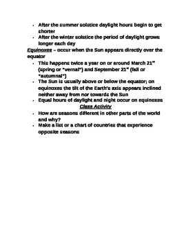 """Earth/Space Student PPT Note Guide Lesson I """"Planet Earth"""""""
