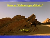 """Earth/Space Lesson II PowerPoint """"Relative Ages of Rock"""""""