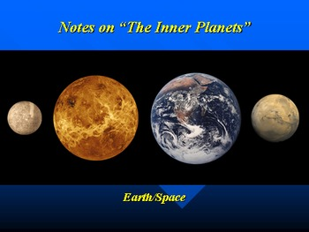 "Earth/Space Lesson II PowerPoint ""The Inner Planets"""