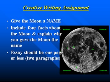 """Earth/Space Lesson II PowerPoint """"The Moon"""""""