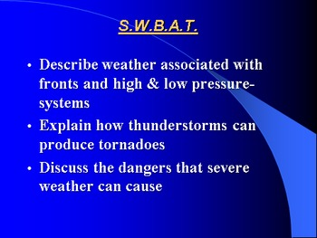 """Earth/Space Lesson II PowerPoint """"Weather Patterns"""""""
