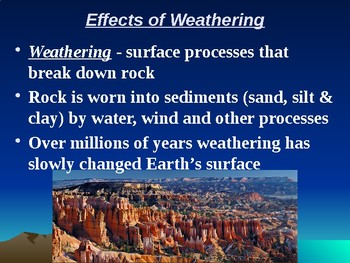 "Earth/Space Lesson II PowerPoint ""Weathering"""