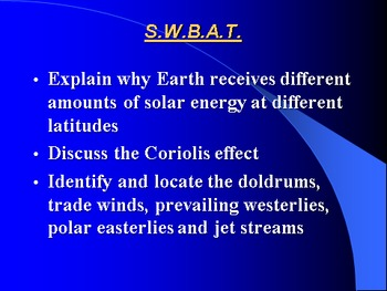 """Earth/Space Lesson III PowerPoint """"Air Movement"""""""