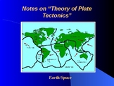 "Earth/Space Lesson III PowerPoint ""Theory of Plate Tectonics"""