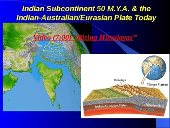 """Earth/Space Lesson III PowerPoint """"Theory of Plate Tectonics"""""""